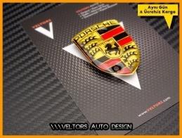 Porsche Jant Göbek Kapak Logo Amblem