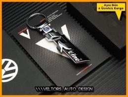 VW R Line Logo Amblem Özel Krom Anahtarlık
