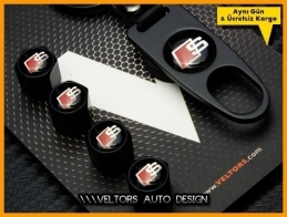 Audi S Line Logo Amblem Anahtarlık Sibop Kapak Seti