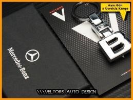 Mercedes B Class Serisi Logo Amblem Özel Krom B Anahtarlık