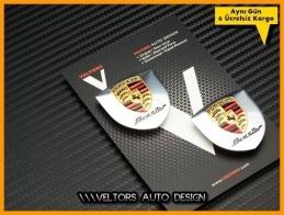 Porsche Boxter Araç Logo Amblem Seti