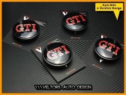 VW Gti Logo Amblem Jant Göbeği Göbek Kapak Seti