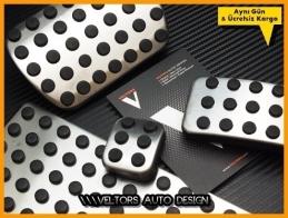 Mercedes W163 W164 W166 Logo Amblem Otomatik Pedal Seti