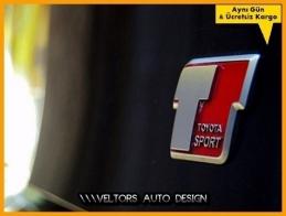 Toyota Sport Bagaj Yazı Logo Amblem