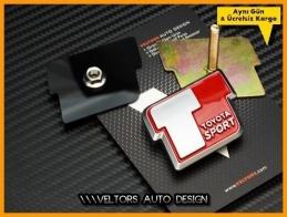 Toyota Sport Ön Izgara Logo Amblem Seti