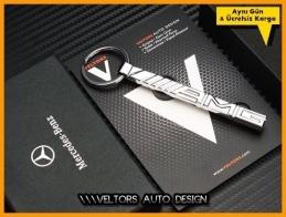 Mercedes AMG Yeni Nesil Logo Amblem Özel Krom AMG Anahtarlık