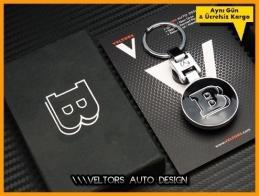 Mercedes Brabus Logo Amblem Özel Krom Brabus Anahtarlık