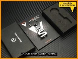 Mercedes S Class Logo Amblem Özel Krom S Anahtarlık