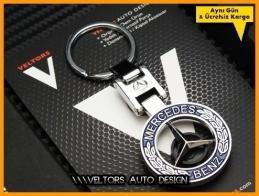 Mercedes  Logo Amblem Özel Krom Anahtarlık