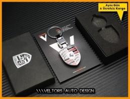 Porsche Logo Amblem Boxed Porsche Anahtarlık