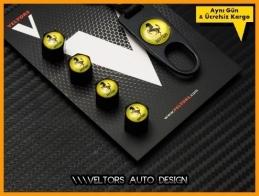 Ferrari Logo Amblem Anahtarlık Sibop Kapak Seti