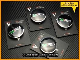 Skoda VRS Logo Amblem Jant Göbeği  Göbek Kapak Seti
