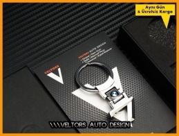 BMW 7 Serisi Logo Amblem Özel Krom 7 Anahtarlık