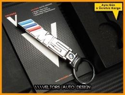 BMW 5 Serisi M Logo Amblem Özel Krom M5 Anahtarlık