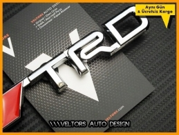 Toyota TRD Bagaj Yazı Logo Amblem