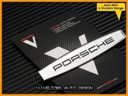 Porsche Torpido Kokpit Logo Amblem