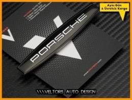 Porsche Black Torpido Kokpit Logo Amblem