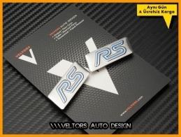 Ford RS Koltuk Döşeme Logo Amblem Seti