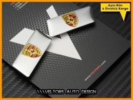 Porsche Koltuk Döşeme Logo Amblem Seti
