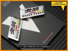 Honda Mugen Power Koltuk Döşeme Logo Amblem Seti