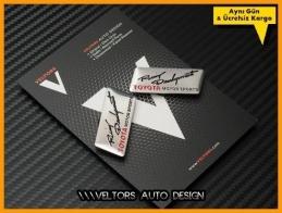 Toyota Ralli Racing Koltuk Döşeme Logo Amblem Seti