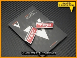 Toyota TRD Kırmızı Koltuk Döşeme Logo Amblem Seti