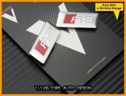 Audi RS Koltuk Döşeme Logo Amblem Seti
