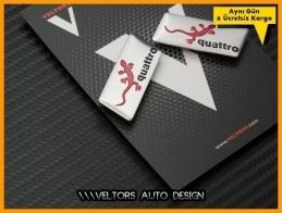 Audi Gecko Koltuk Döşeme Logo Amblem Seti
