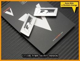VW R Line Koltuk Döşeme Logo Amblem Seti