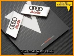Audi Koltuk Döşeme Logosu Amblemi Seti