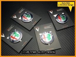 Alfa Romeo Jant Göbeği Göbek Kapak Logo Amblem Seti
