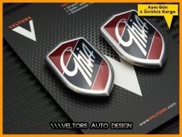 Ford Ghia Araç Yan Logo Amblem Seti