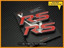 Ford RS Araç Yan Logo Amblem Seti