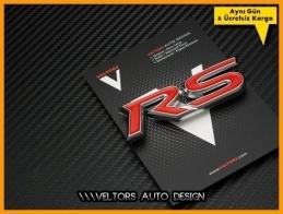 Ford RS Araç Bagaj Yazı Logo Amblem