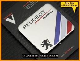 Peugeot Europe Plaket Logo Amblem