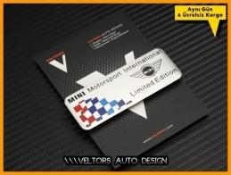 Mini Motorsports Limited Edition Plaket Logo Amblem