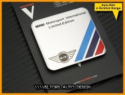 Mini Motor Sports Plaket Logo Amblem