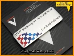 BMW Limited Edition Plaket Logo Amblem