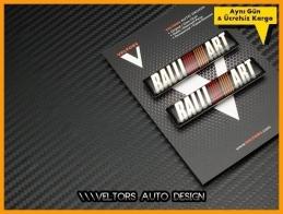 Mitsubishi Ralli Art Body Logo Amblem Seti