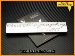 Land Rover Autobiography Sport Bagaj Yazı Logo Amblem