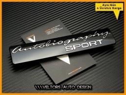 Range Rover Autobiography Sport Bagaj Yazı Logo Amblem