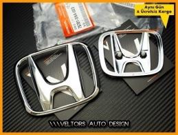 Honda Civic FD7 Orjinal Kaput Bagaj Logo Amblem Seti