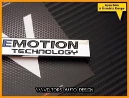 VW BlueMotion Bagaj Yazı Logo Amblem