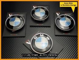 BMW Carbon Logo Amblem Jant Göbeği Göbek Kapak Seti