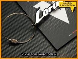 Mercedes Lorinser Logo Amblem Özel Krom Lorinser Anahtarlık