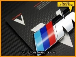 BMW M Araç Bagaj Yazı Logo Amblem