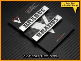 Mercedes Brabus Koltuk Döşeme Logo Amblem Seti