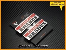 Mercedes Powered by BRABUS Logo Amblem Seti