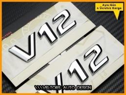 Mercedes V12 Yan Logo Amblem Seti