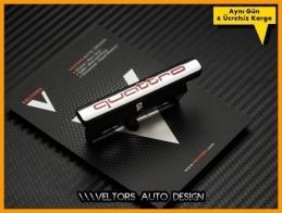 Audi Quattro Kırmızı Ön Izgara Logo Amblem